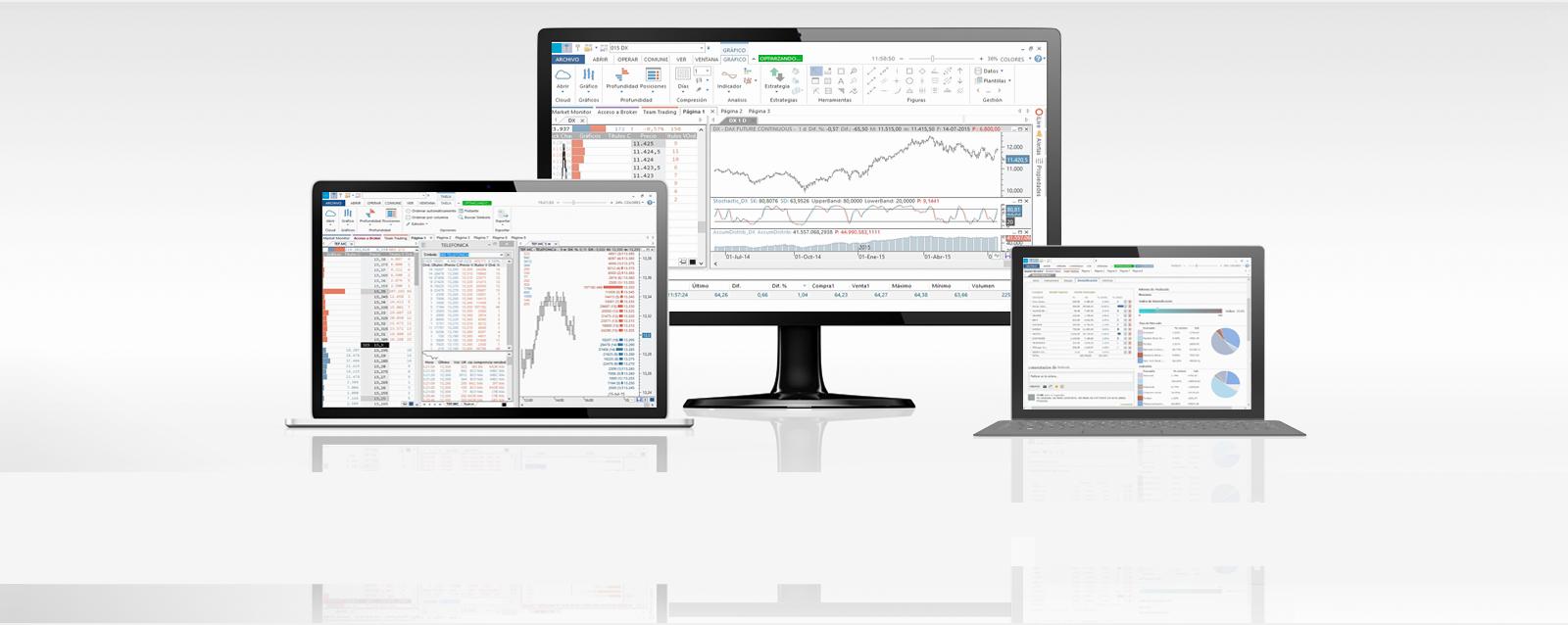 La plataforma de bolsa en tiempo real para los traders profesionales